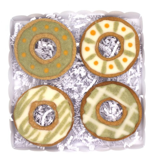 Biscuits pour chien avec glacage Green Box Donuts Sun and Zaira